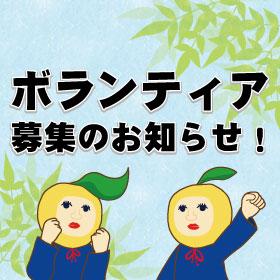 ボランティア募集のお知らせ!