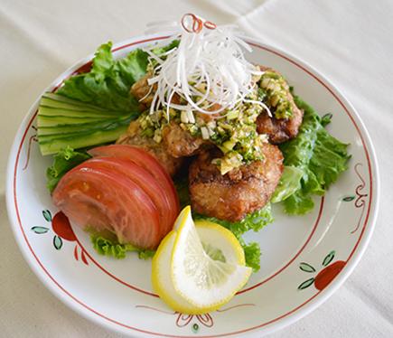 オメガ3秋刀魚(醤油)の唐揚げ、油淋ソースがけ